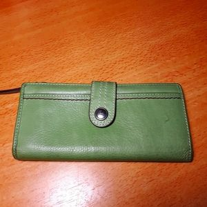 Lime green fossil wallet